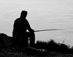 pesca con gusanos